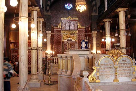 The Ben Ezra Synagogue was originally a Christian church, purchased for 20,000 dinars by Abraham Ben Ezra. It is believed that on this spot, the Pharaoh's daughter discovered the baby Moses.