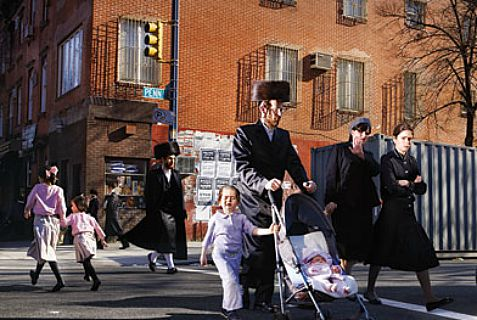 The French city of Metz has closed a street for Jews from Rosh HaShanah through Yom kippur. Above: A street closed in Williamsburg, NY