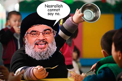 nasrallah eating