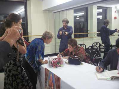 Dr. Phyllis Chesler speaks with audience members at the 92nd Street Y and signs copies of her new book, An American Bride in Kabul.