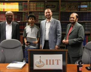 Ermin Sinanovic at IIIT (2nd from right)