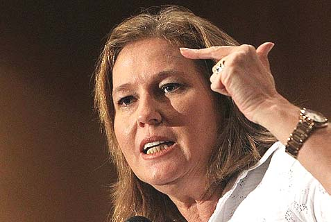 Tzipi Livni is Justice Minister, Chief Negotiator with the Palestinians, and Chair of the Ministerial Legislative Committee. So she holds many of the cards needed to uproot Jewish life from Judea and Samaria.