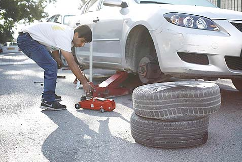 "An Arab resident of the Sheich Jarach neighborhood in East Jerusalem discovered that his tires had been punctured by the ""Tag Mechir"" (price tag) activists."