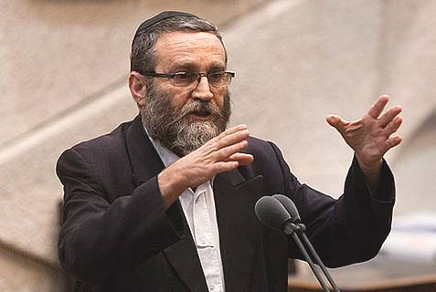 UTJ MK Moshe Gafni accused Jewish Home of pushing free marriage registration because they're not religious.