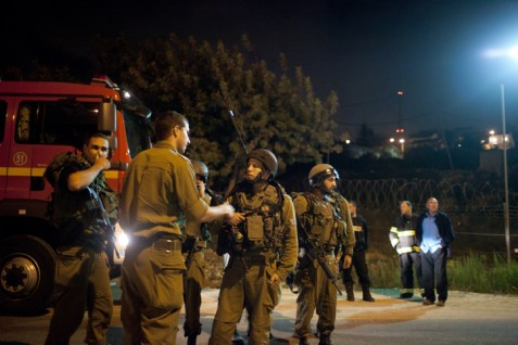 IDF at scene of shooting in Psagot Saturday night.