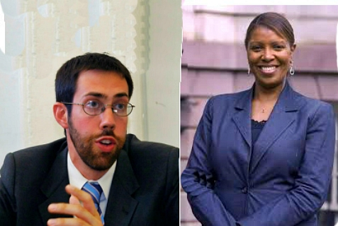 Letitia James (right), beat Daniel Squadron in the Oct. 1, 2013 runoff for Democratic nominee for NYC Consumer Advocate