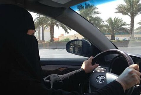 Saudi woman breaks the ban on driving but can she be a safe driver with a veil?