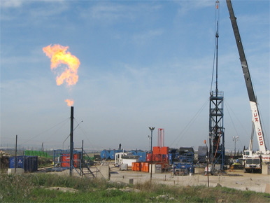 Meged 5 oil well east of Tel Aviv