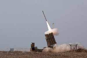 The Iron Dome was called on for the first time in 2013 to intercept a missile fired by terrorists in Sinai at Eilat. Photo: IDF Spokesperson