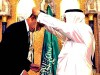 President Obama receiving honors in Saudi Arabia.