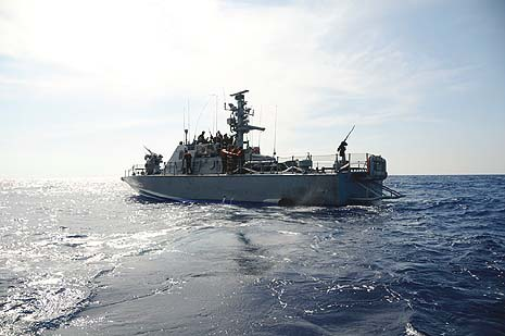 An IDF Navy ship patrolling the Mediterranean Sea. Photo credit: IDF Spokesperson's office.