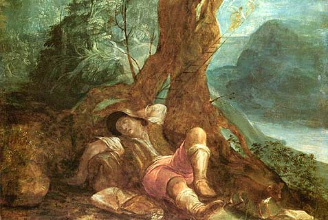 Jacob's Dream by Adam Elsheimer (1578-1610)