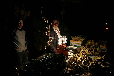 Blackouts are common in the Gaza strip.