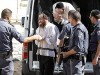 Haredi Beit Shemesh election fraud suspects are being brought into the Magistrate Court in Jerusalem, October 28, 2013.