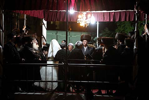 A wedding in the Chasidic dynasty of Belz, Nov. 8. The Haredim already do not marry in the Rabbanut, or use just about any of its services. The secular are now not going to be using the Rabbanut services either.