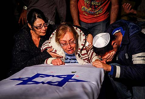 The funeral of Eden Atias, 19, murdered by an Arab terrorist.