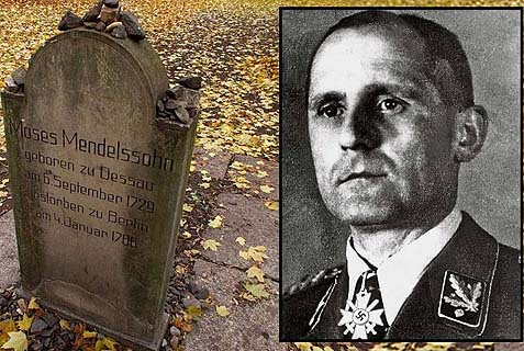 Heinrich Mueller, head of the Gestapo, was buried in a Jewish cemetery in Berlin.
