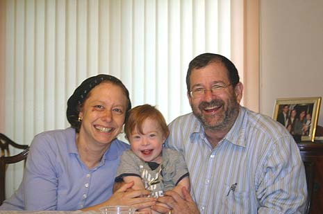 Randi and Michael Lipkin with Yisrael (photo credit: courtesy Michael Lipkin)