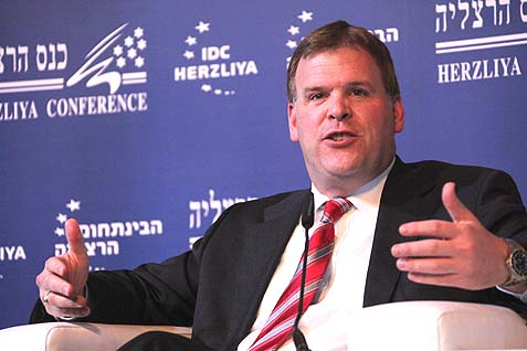 Canadian Foreign Affairs Minister John Baird in Israel (at an IDC Herzliya conference).