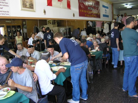 The Meir Panim Free Restaurant in Tiberias is celebrating its 12th year of offering free meals to the city's residents.