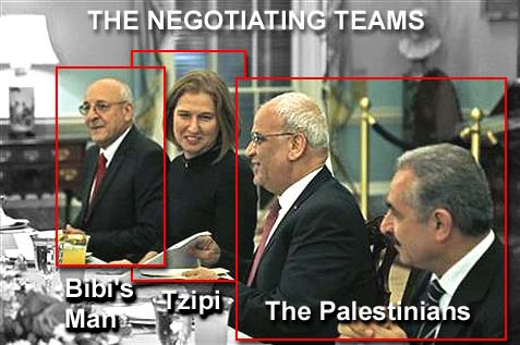 The three teams negotiating for peace, not including the Americans.