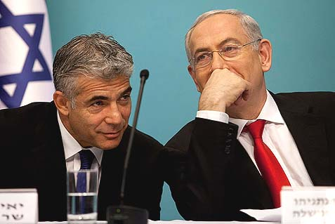 Yair Lapid and Benjamin Netanyahu