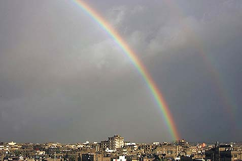 Rainbow over Gaza