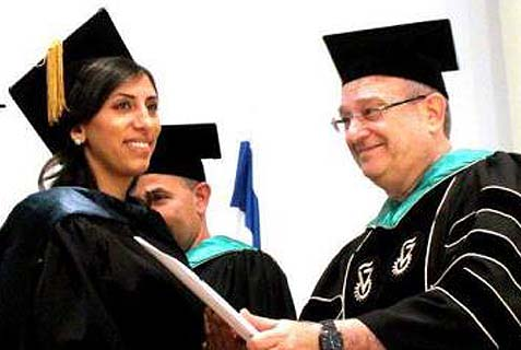 Mais Ali-Saleh graduated first in her class from the Technion.