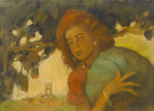 Hagar; pastel on paper by Abel Pann Courtesy Bonhams