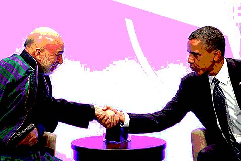 Obama told Karzai to make friends with the Taliban.