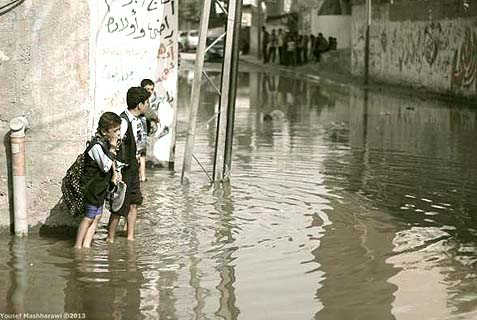 The streets of some Gaza neighborhoods are completely flooded with raw sewage, so that pedestrians have no way to go but through the muck. The Hamas government has been sinking Gaza into a quagmire of violence, blackouts, water shortages and now: a cholera epidemic waiting to happen.