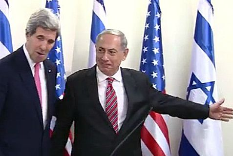 Netanyahu shows Kerry the way out.