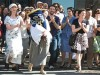 Women from the independent Mission Minyan group in San Francisco carry Torah scroll.