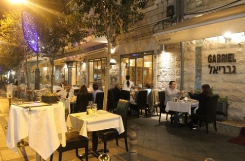 "Gabriel, a top Jerusalem restaurant, is one of a number of restaurants that have switched over to the Jerusalem Rabbinate's new ""Mehuderet"" Kashrut Certification."