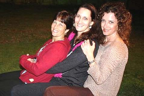 The triplets (left to right): Esther, Aliza, Judi.