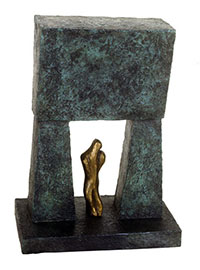 Shalev, bronze with patina by Tobi Kahn. Courtesy Canton Museum of Art.