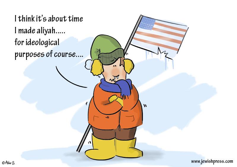 freezing aliyah