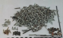 Screws, nails, ball bearings and other metal pieces that were inside the bomb to maximize the number of people killed.