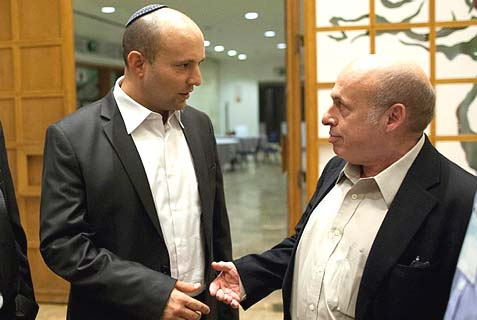 Only Naftali Bennett (L) and Natan Sharansky can get in the way of a bizarre collaboration of the Haredi Rabbinate and the RCA to block Zionist Orthodox Jews from making aliyah.