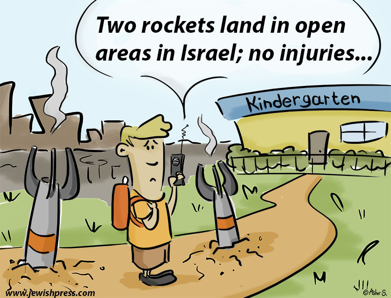 two rockets land
