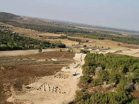 Aerial photograph of the site. Photo credit: Skyview, courtesy of the Israel Antiquities Authority