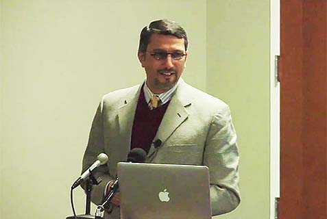 "UC-Berkeley Professor Hatem Bazian speaks on ""Promoting Islamophobia"" at the Occupy AIPAC Summit in 2012."