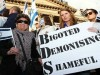Australians rally against the BDS Boycott Israel movement.