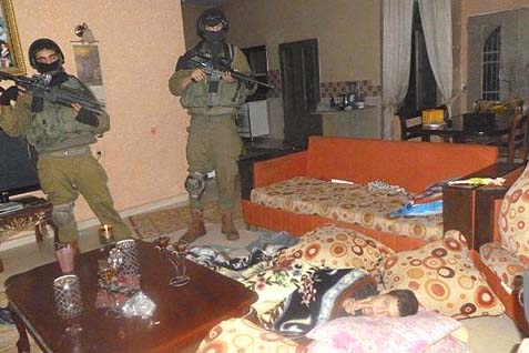 IDF soldiers raid a home where a suspected terrorist resides. Over the past 12 years, the IDF has managed to maintain tight control over the terror infrastructure in Judea and Samaria, using a network of informants and frequent arrest raids.