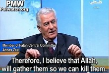 Abbas Zaki, member of the Fatah Central Committee, explains how Allah will help the Palestinian Arabs kill all Israelis. March 12, 2014