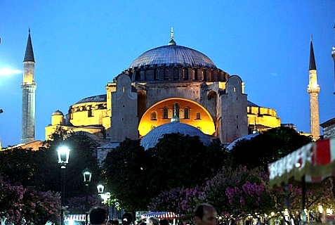 The Hagia Sophia, in Istanbul. It was a cathedral for 1000 years, then was converted into a mosque. In 1935, Turkey's Ataturk converted the building into a museum for all to use.