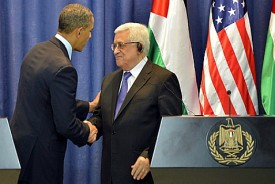 U.S. President Barack Obama and Palestinian Authority Leader Mahmoud Abbas, in Ramallah, March 21, 2013