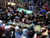 Funeral for three terrorists killed in a shootout with the IDF in Jenin.