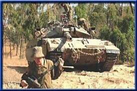 DF tanks shot artillery fire at terror targets in central Gaza, near sites of Jewish communities that were destroyed in the expulsion in 2005.