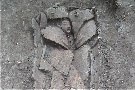 Rare 3,300 year old coffin of a wealthy Canaanite uncovered in the Jezreel Valley.